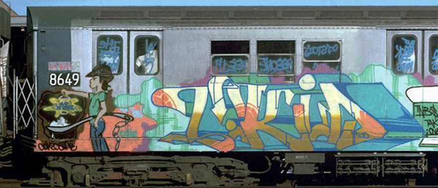 graffiti writing trains subway nyc newyork classic tkid tnb