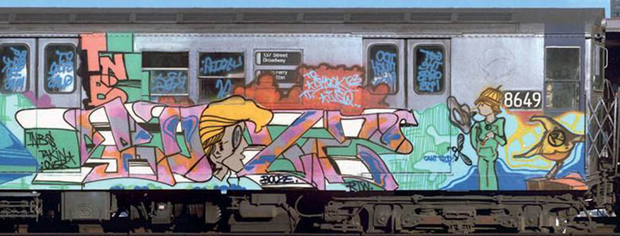 graffiti writing trains subway nyc newyork classic booze rtw