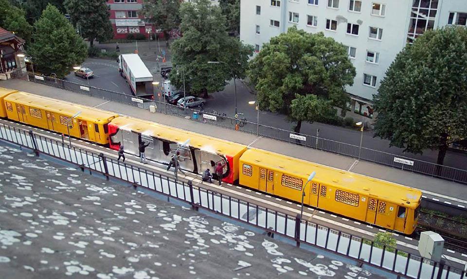 graffiti writing subway train berlin germany 1up action