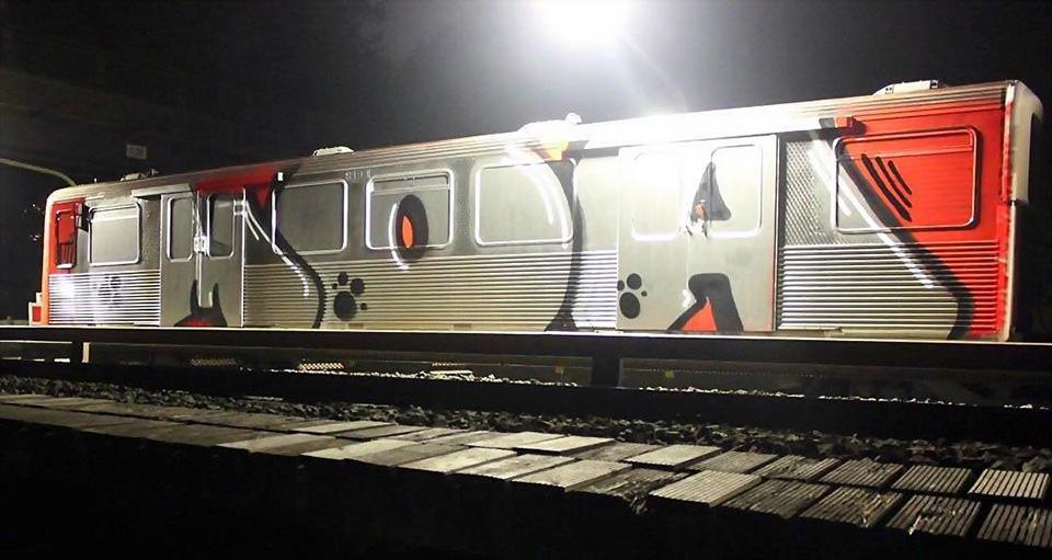 graffiti writing subway train hamburg germany moa wholecar