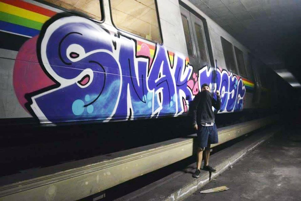 subway graffiti writing train caracas venezuela southamerica