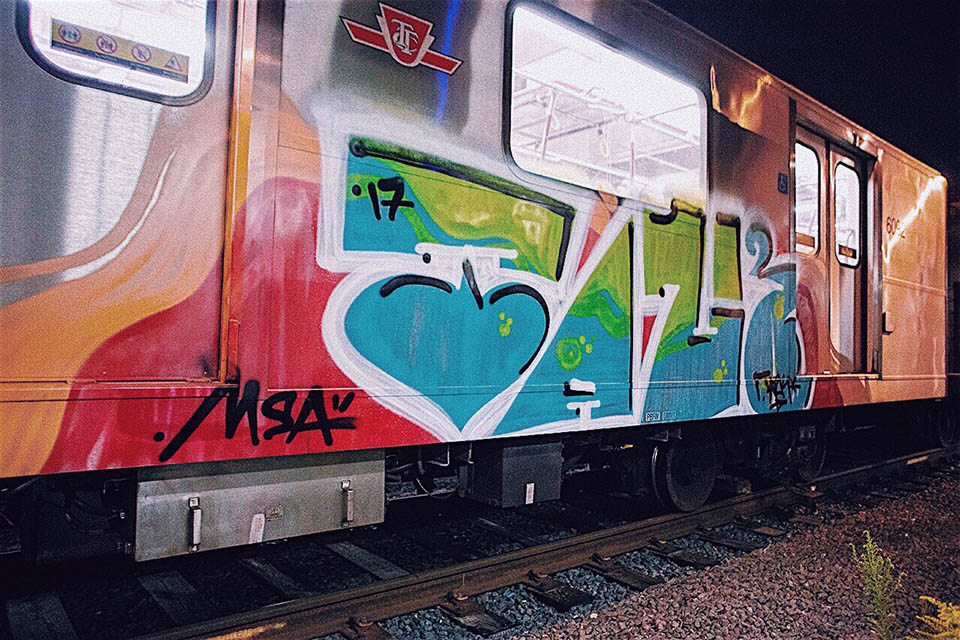 graffiti train subway toronto canada talk 2017 writing