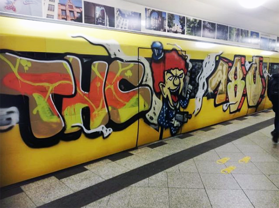graffiti train subway writing berlin germany thc 180
