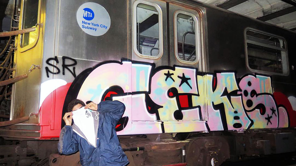 graffiti train subway writing nyc newyork usa geks sr
