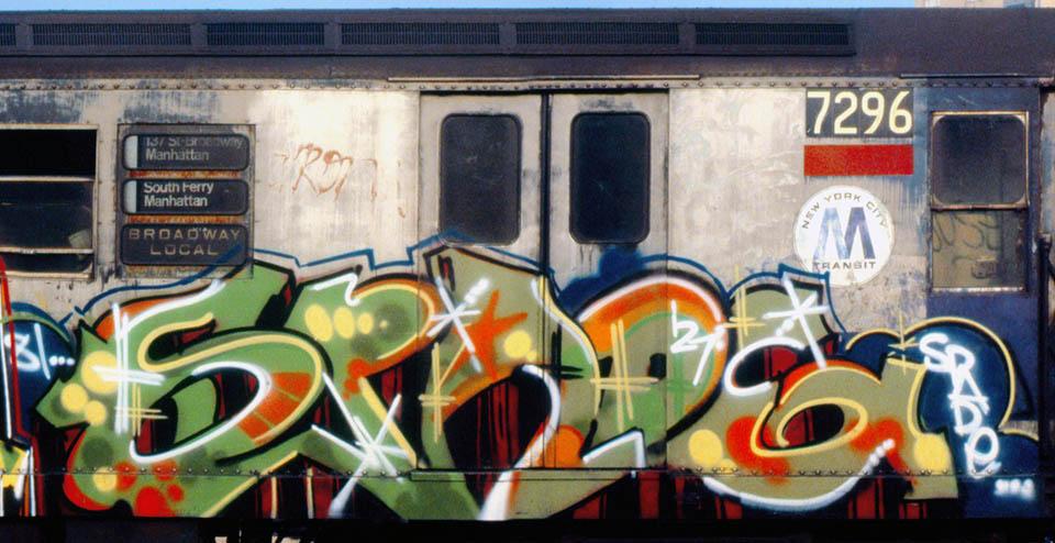 graffiti subway train writing nyc usa newyork classic 80s spade