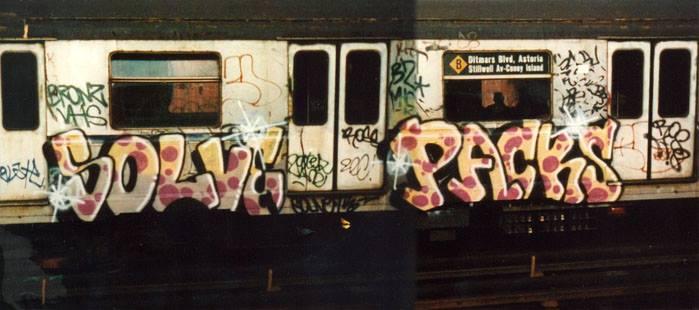 solve packs graffiti newyork subway