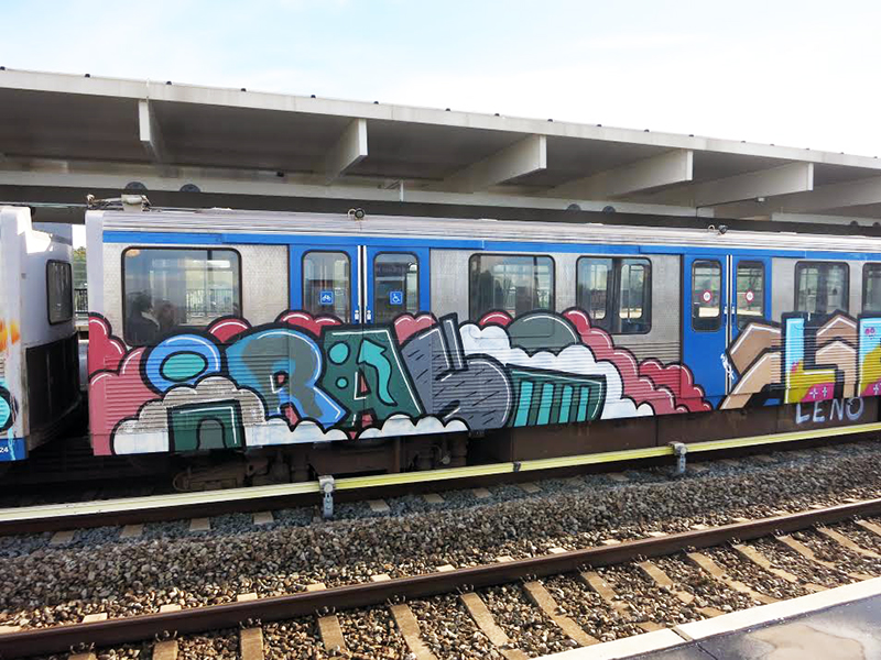 amsterdam subway graffiti iraso running