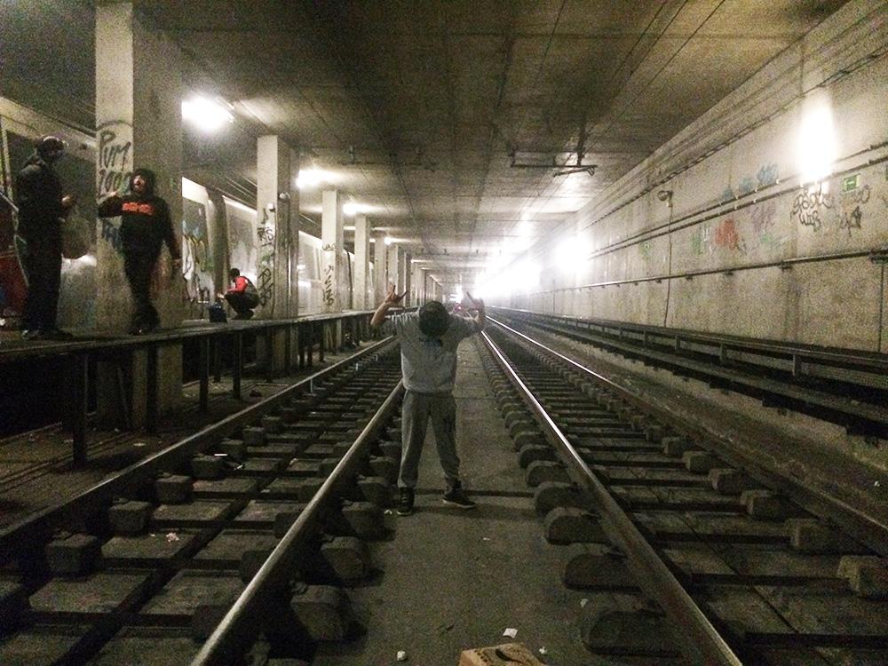 rome subway graffiti