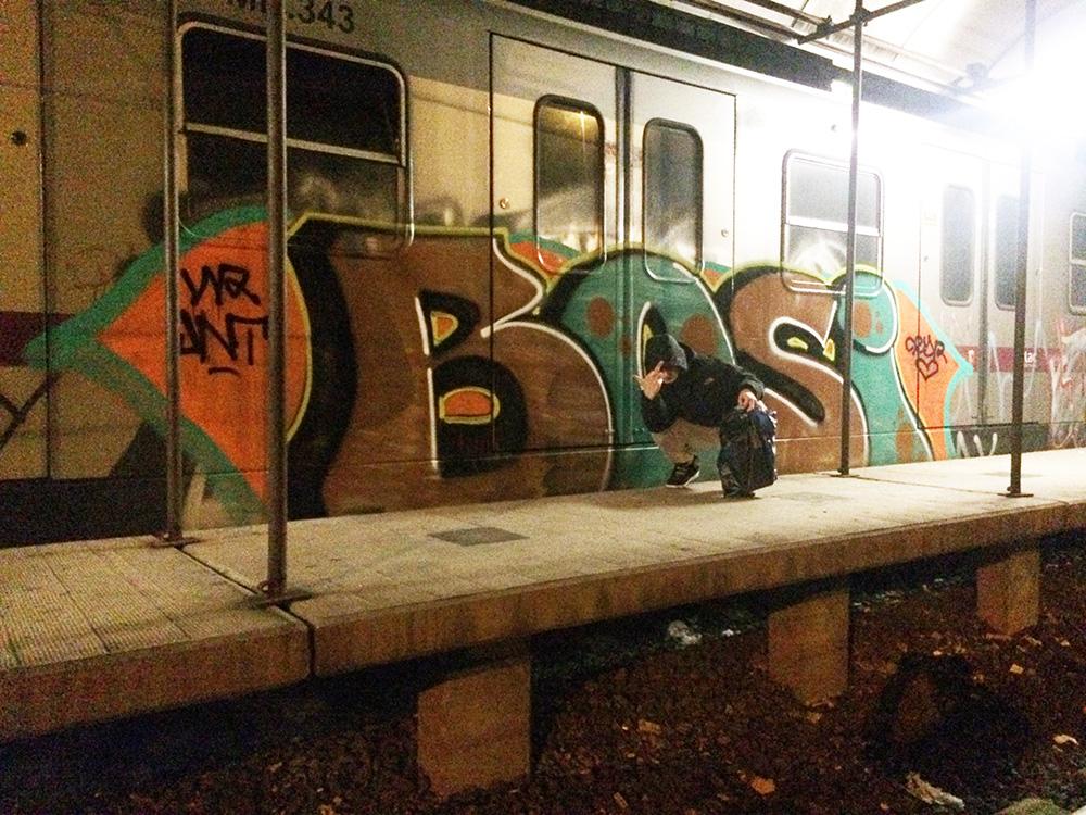 rome subway graffiti bosi