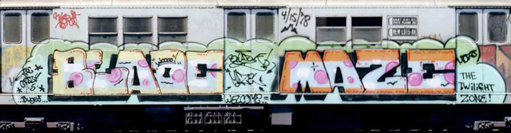 graffiti subway nyc legend newyork blade maze 4/15/78