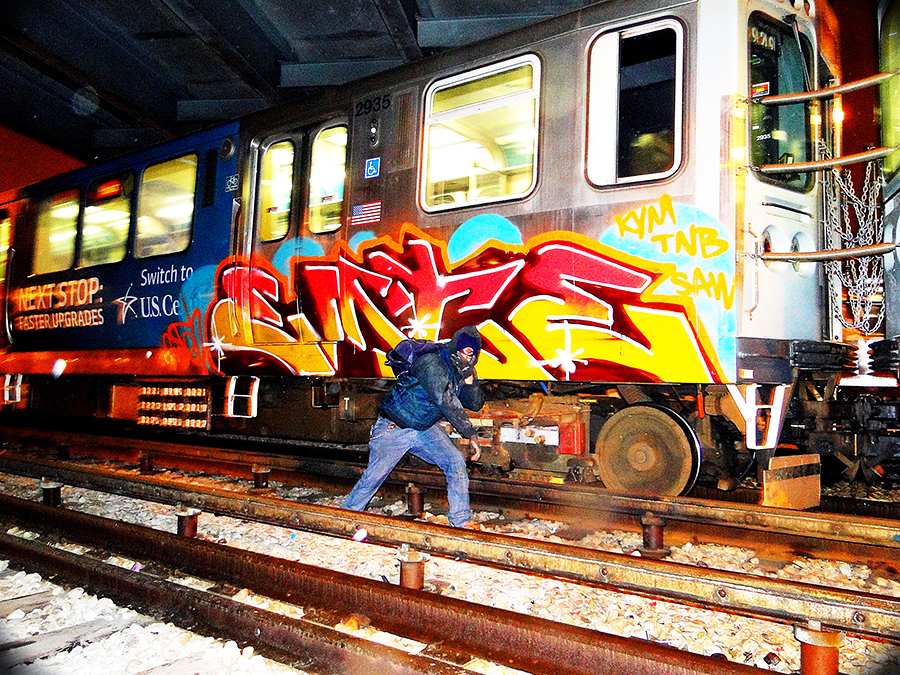 chicago graffiti subway yard emte kym tnb