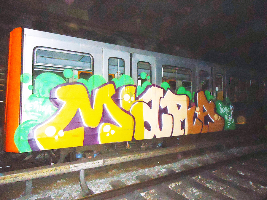 graffiti subway sen otp brussels tunnel