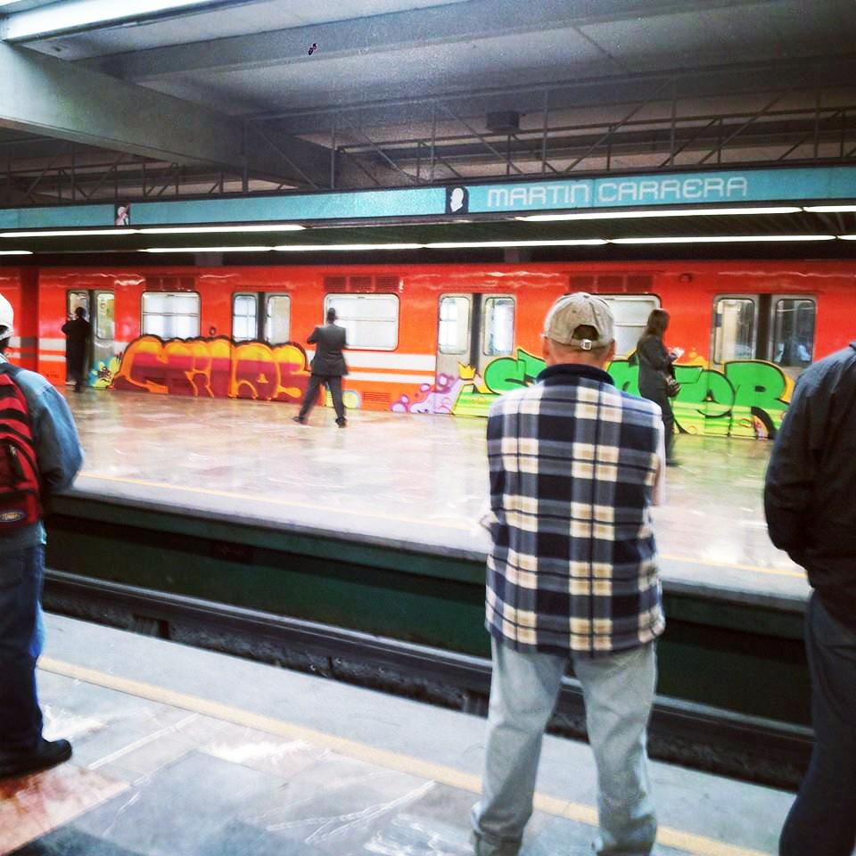 graffiti subway mexicocity running hilos stunter martincarrera