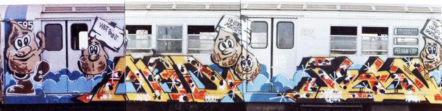 graffiti subway nyc legend newyork madseen