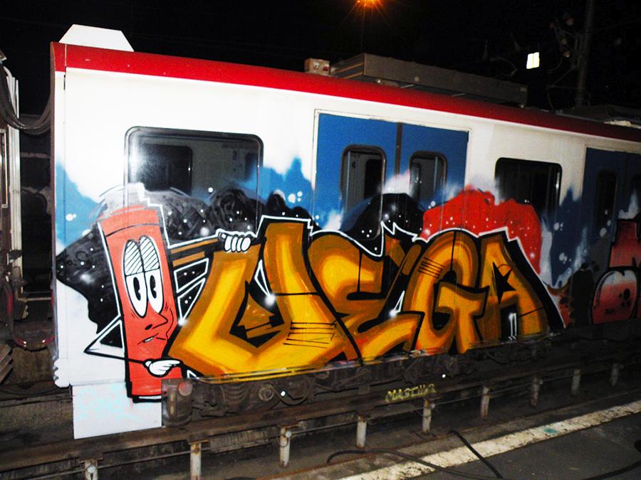 catania subway graffiti vega