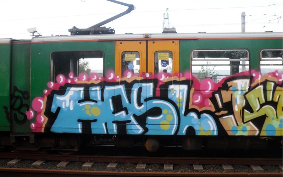 graffiti subway newcastle running hasl