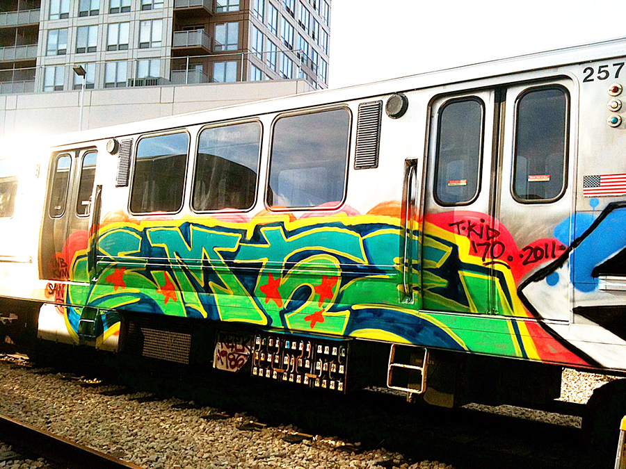 chicago graffiti subway yard emte tkid170