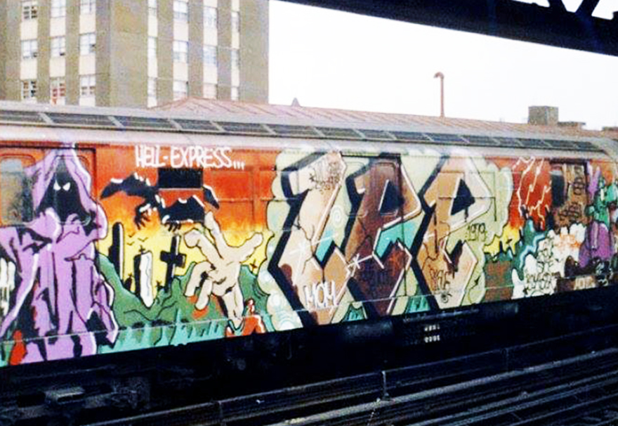 graffiti subway legend nyc newyork lee hellexpress wholecar 1979