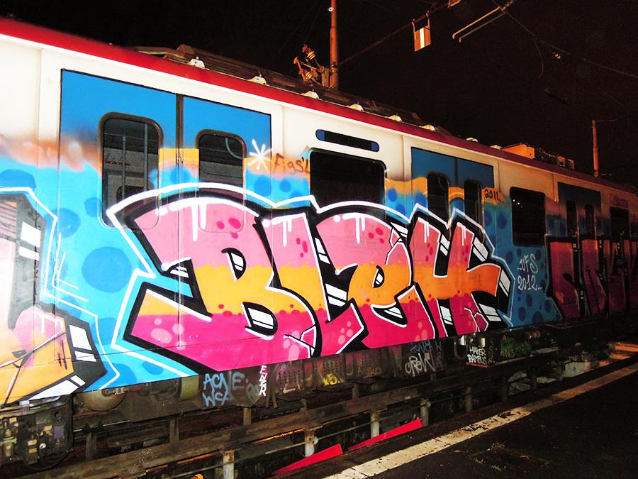 catania subway graffiti bleh