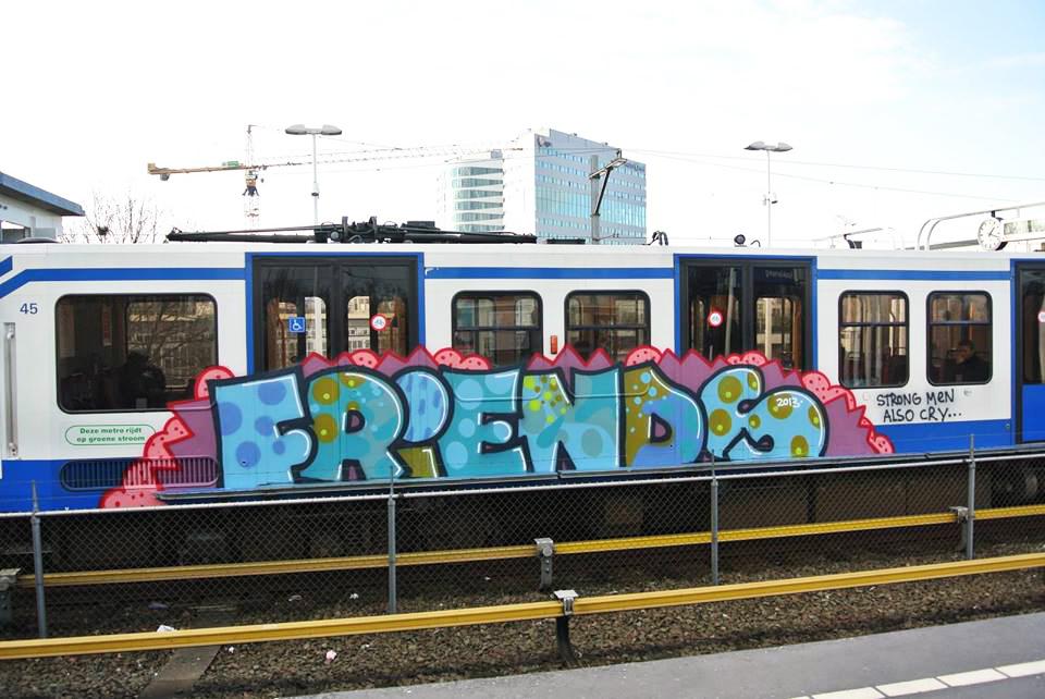 graffiti subway amsterdam running fof friendsoverfame