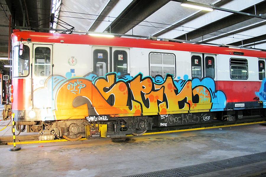 graffiti subway sen otp milan hangar