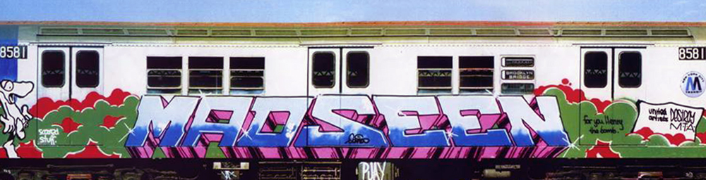 graffiti subway nyc legend newyork madseen