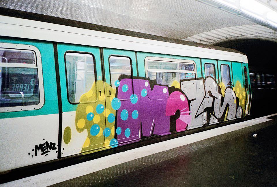 graffiti subway paris running moses tm topsprayer