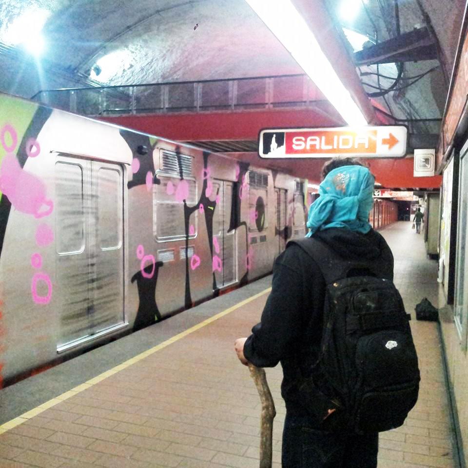 graffiti subway platform wholecar hilos mexicocity