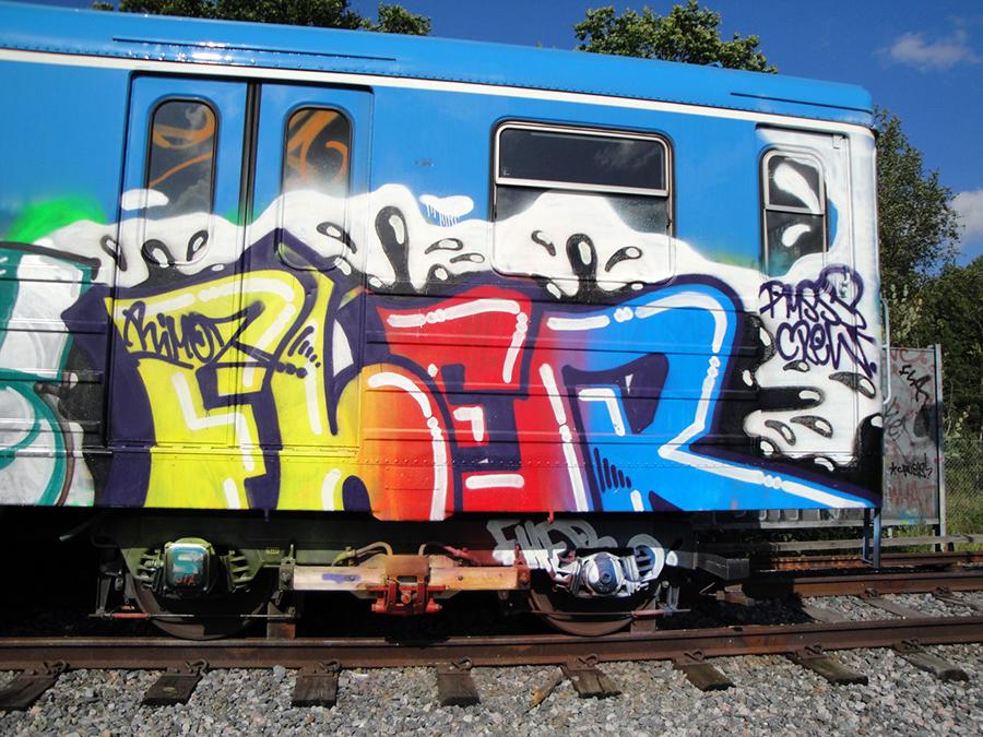 subway graffiti stockholm fher pms tunnelbana