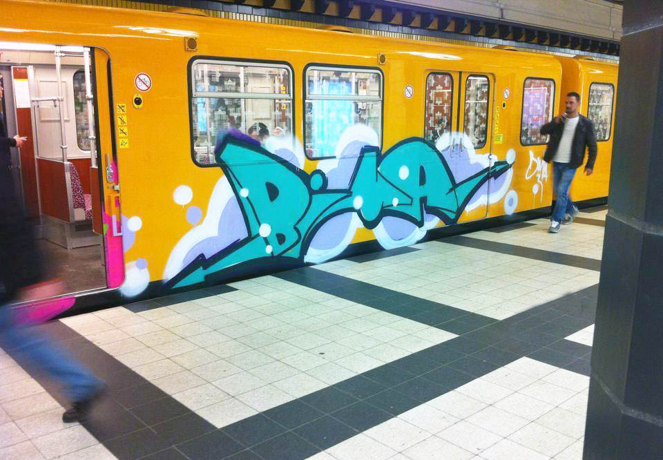 graffiti subway berlin germany bima 2014