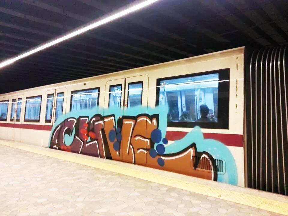 graffiti subway rome italy clive 2014