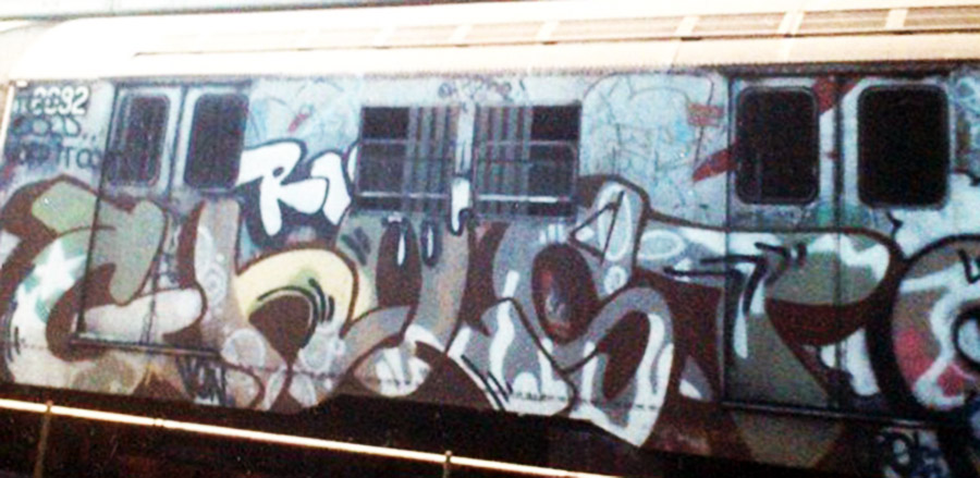 graffiti subway nyc newyork ris crew ghost