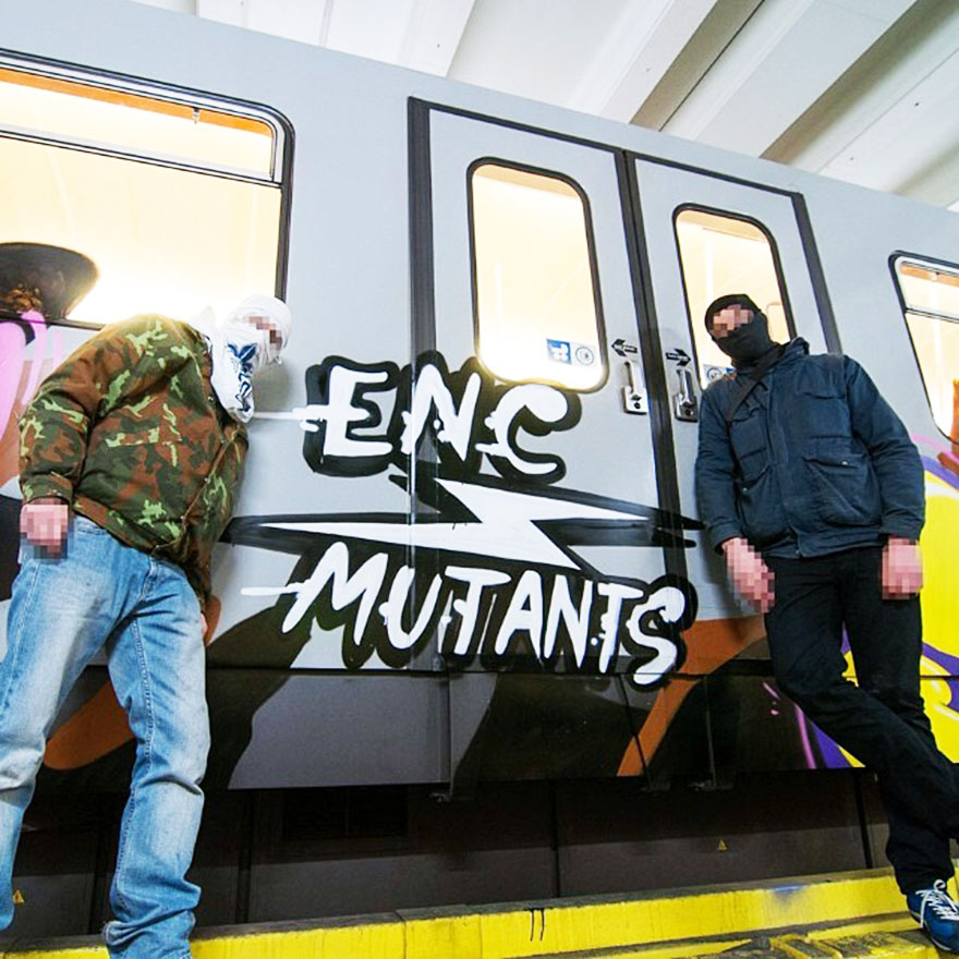 graffiti subway vienna yard enc mutants showmustgoon