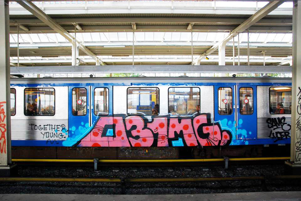 graffiti subway amsterdam holland intraffic 031 mg same luce