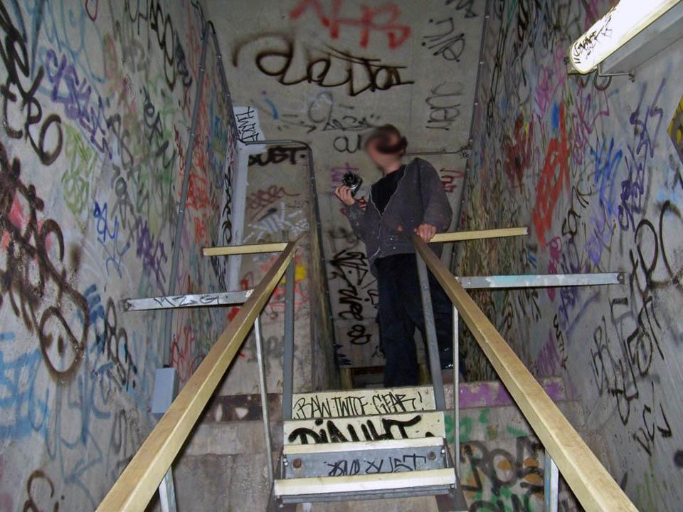 graffiti subway amsterdam tunnel diauht holland