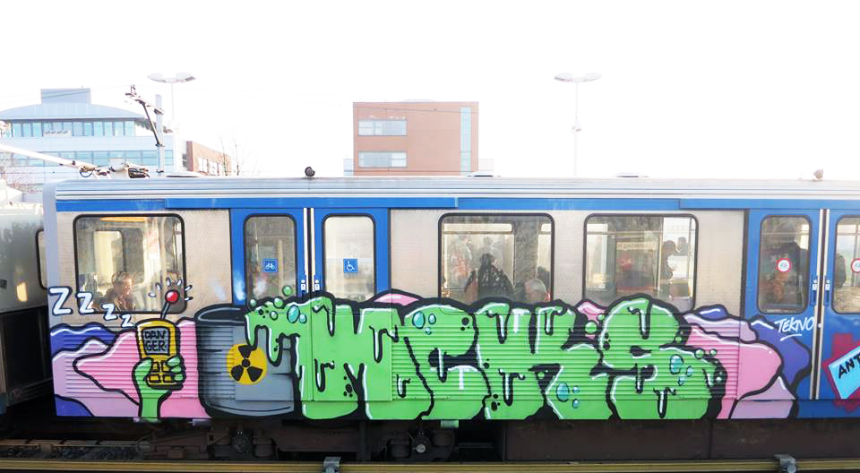 graffiti subway amsterdam holland mcks