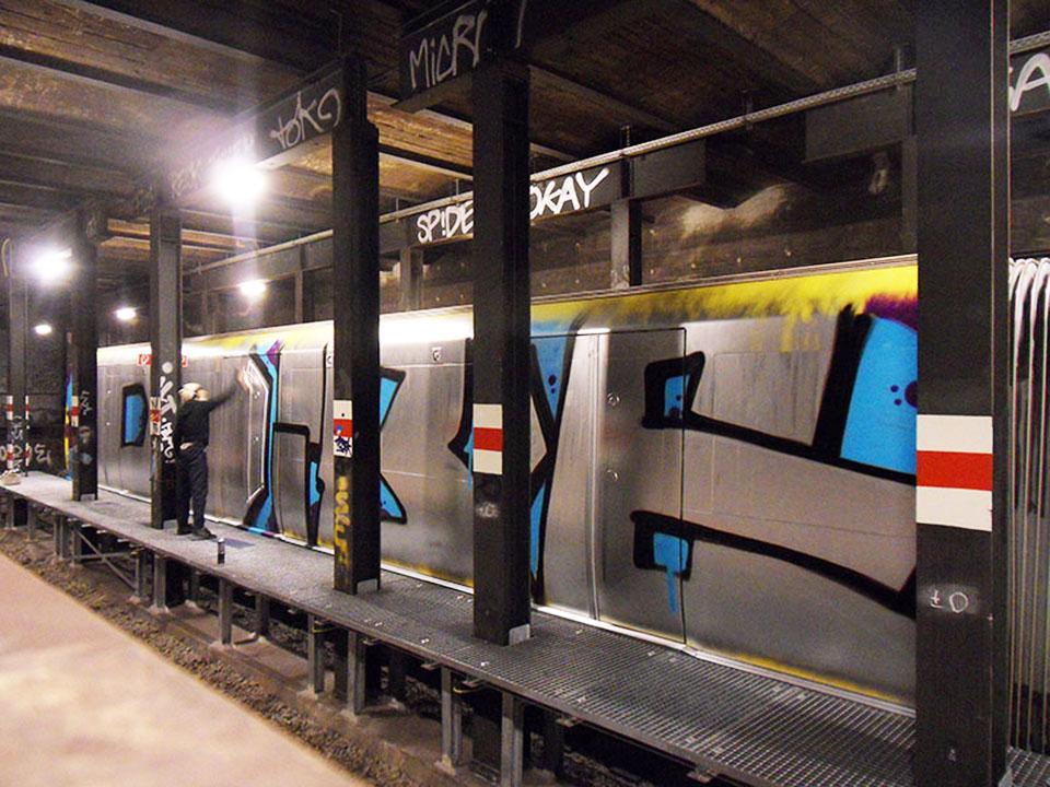 graffiti subway berlin germany oneman wholecar dibe