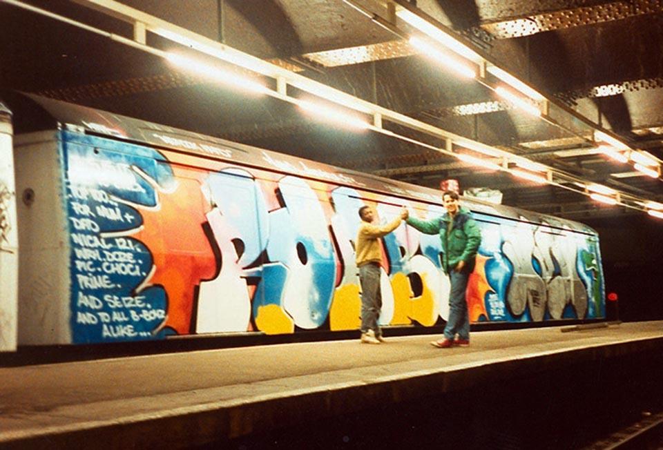 graffiti subway london 1989 tube underground kingrobbo rip firstonetohitaldgate