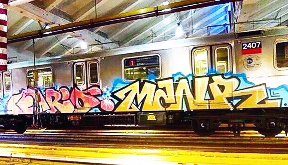 graffiti subway nyc newyork usa 2014