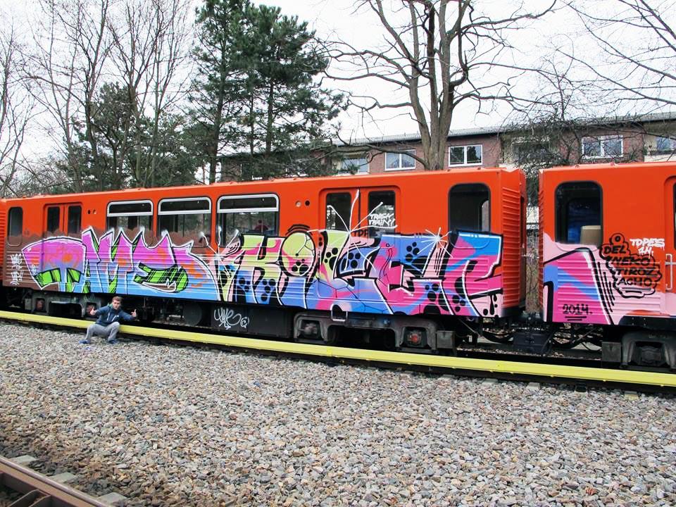 graffiti subway berlin germany tame kiler orangetrain