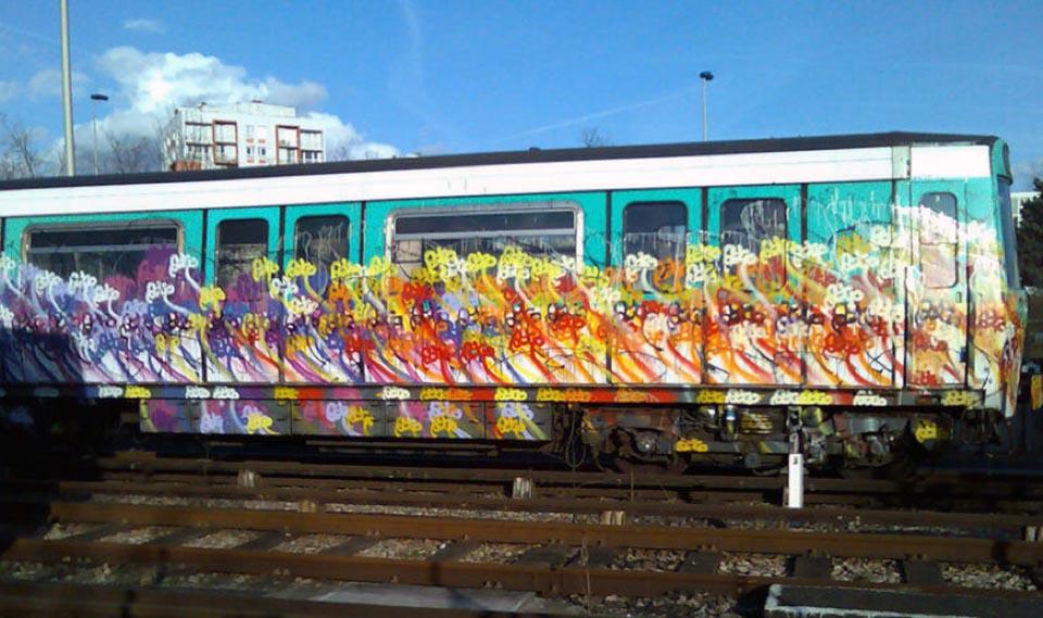 graffiti subway france paris ratp