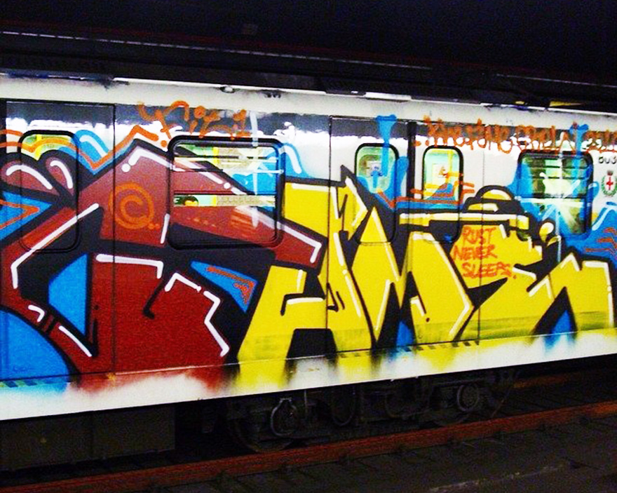 graffiti subway italy milan fit1 running