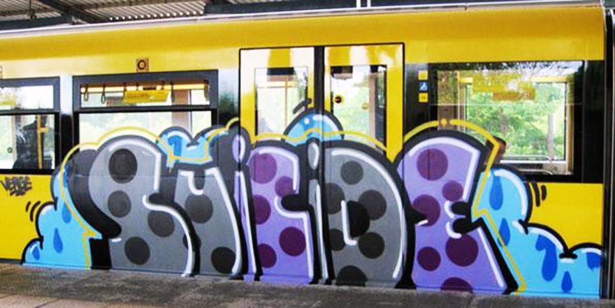 graffiti subway berlin germany running suicide
