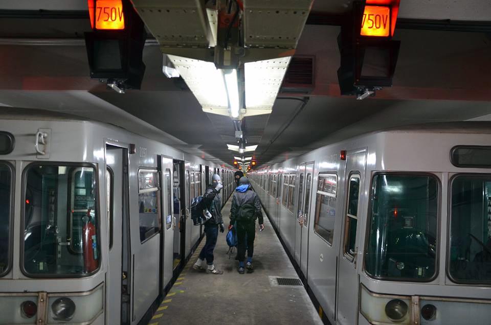 graffiti subway vienna austria tunnel
