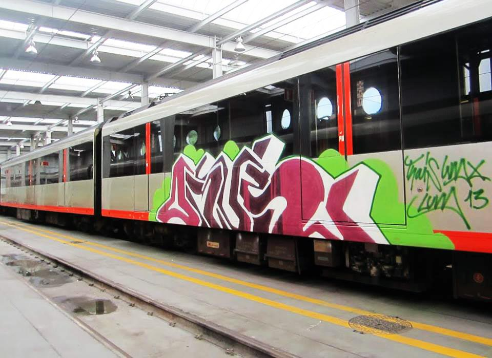graffiti subway train spain bilbao orus otp