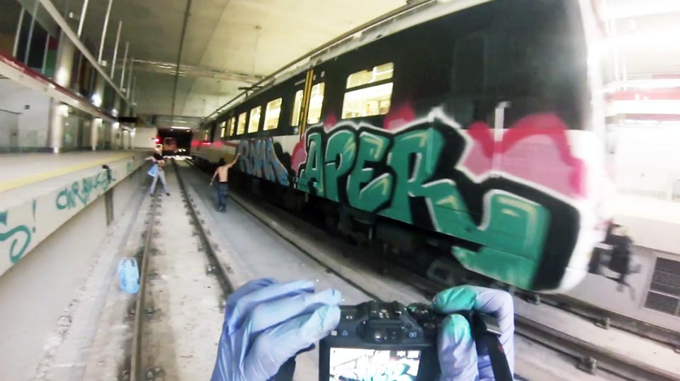 graffiti subway palmademallorca spain aper roma action