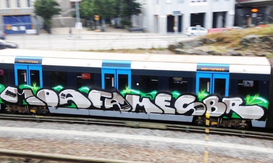 graffiti subway sweden stockholm running moas fame sbr e2e
