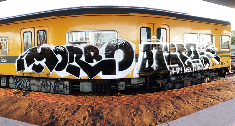 graffiti subway train buenos aires argentina