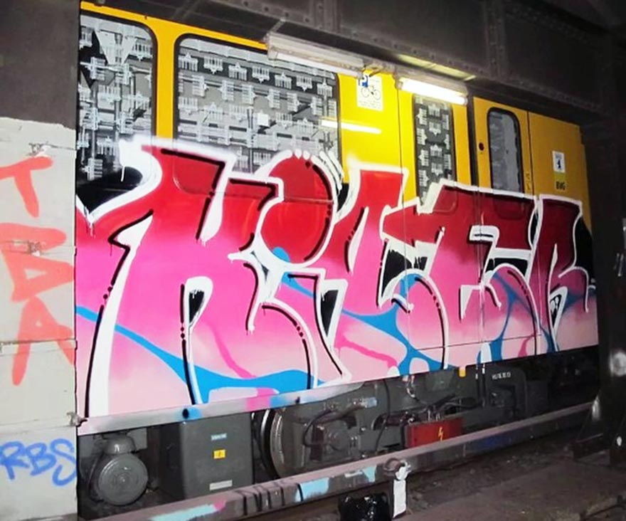 graffiti subway train berlin germany kiler