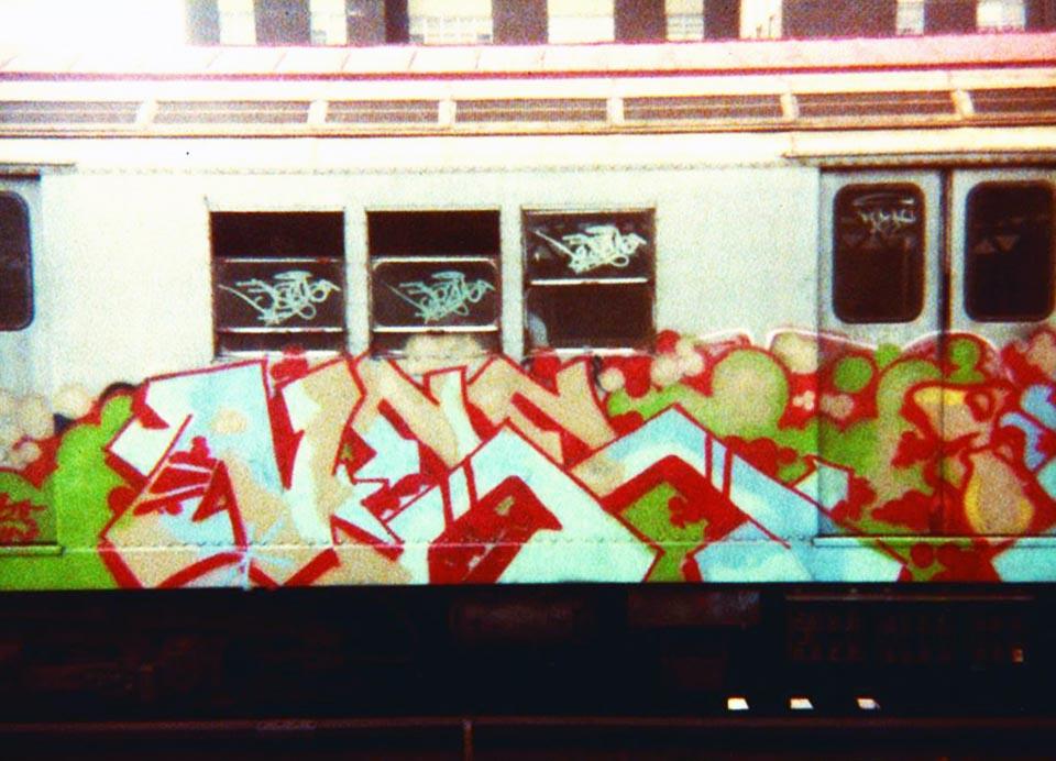 graffiti train subway nyc newyork usa calssic style